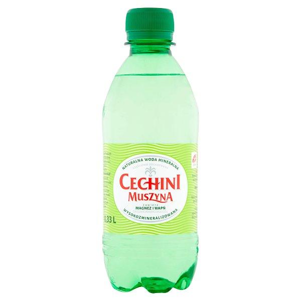 Muszyna Cechini Naturalna woda mineralna wysokozmineralizowana średnionasycona 0,33 l
