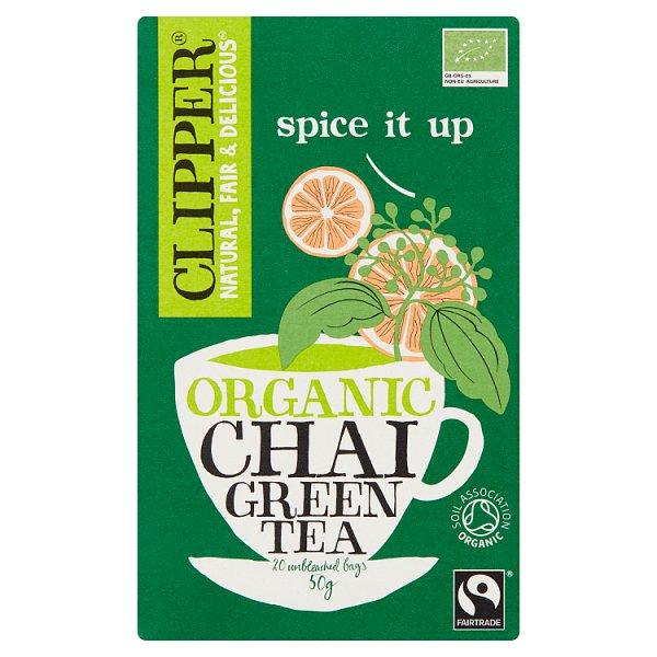 Clipper Herbata zielona Chai organiczna 50 g (20 torebek)