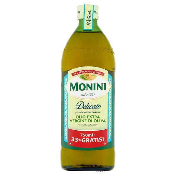 Oliwa Monini z oliwek extra vergin Delicato 750ml + 250ml gratis