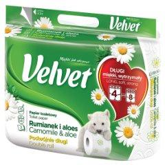 Papier toaletowy Velvet podwójnie długi rumianek 3w/4rolki