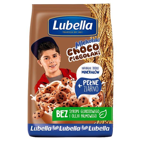 Lubella Mlekołaki Choco Piegołaki Zbożowe chrupki w kształcie ciasteczek o smaku czekoladowym 250 g