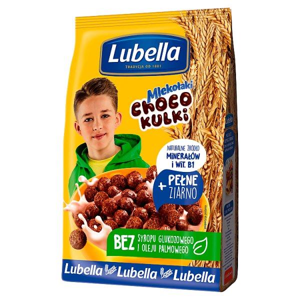 Lubella Mlekołaki Choco Kulki Zbożowe kulki o smaku czekoladowym 250 g