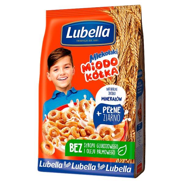 Lubella Mlekołaki Miodo Kółka Zbożowe kółka z miodem 250 g