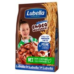 Lubella Mlekołaki Muszelki Choco Zbożowe chrupki o smaku czekoladowym