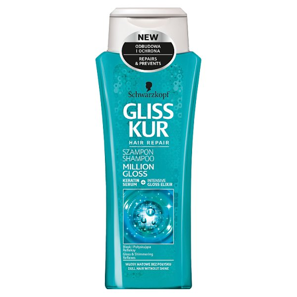 Gliss kur szampon million gloss