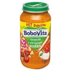 Obiadek Bobovita    kluseczki z warzywami i indykiem