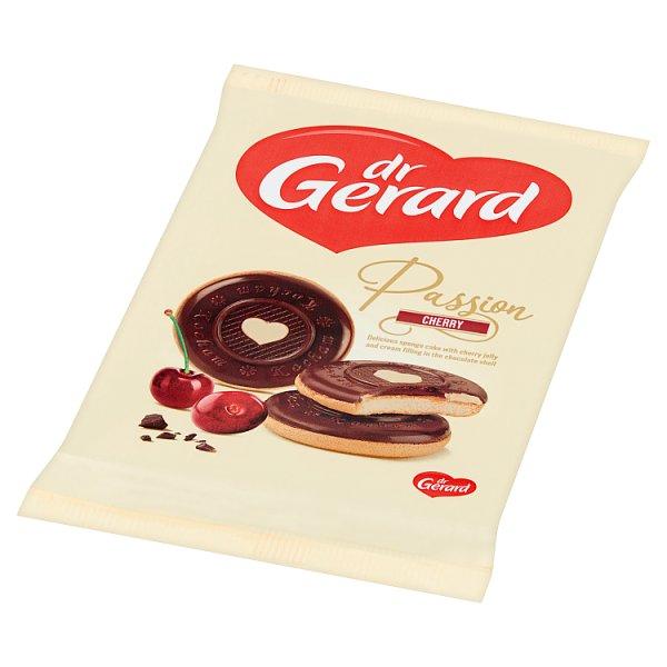 Ciastka Pasja czekoladki z nadzieniem z kremu i galaretki wiśniowej na biszkopcie