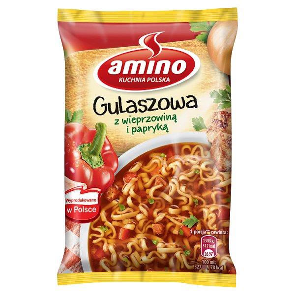 Zupa Amino gulaszowa z makaronem