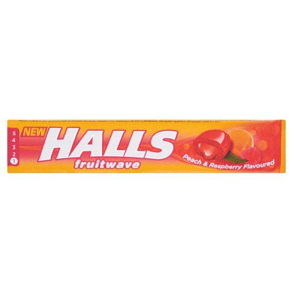 Cukierki Halls fruitwave peach