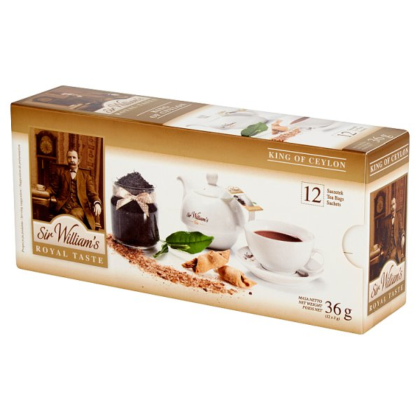 Herbata sir williams royal taste king of ceylon 12 szt