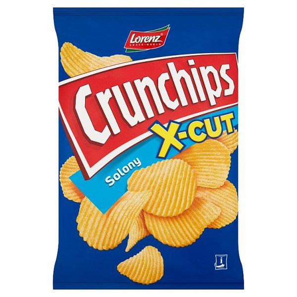 Crunchips X-Cut Chipsy ziemniaczane solone 140 g