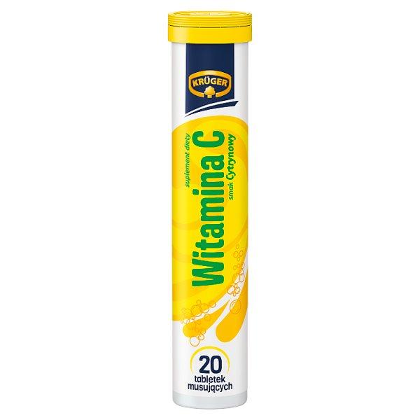 Tabletki Kruger Witamina C o smaku cytrynowym Witamina c
