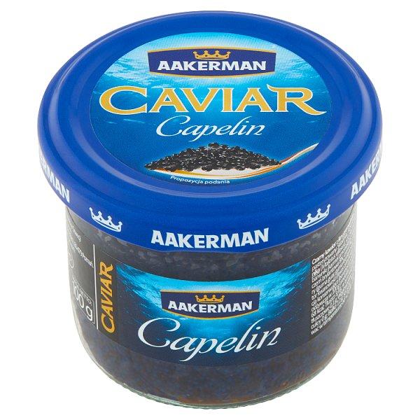 Aakerman Czarny kawior z ikry gromadnika 100 g