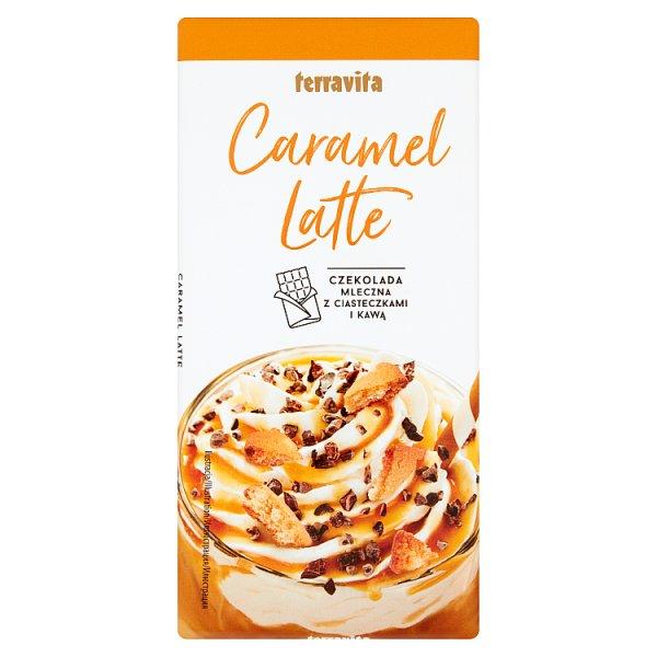 Czekolada classic mleczna carmel latte z ciasteczkami i kawą