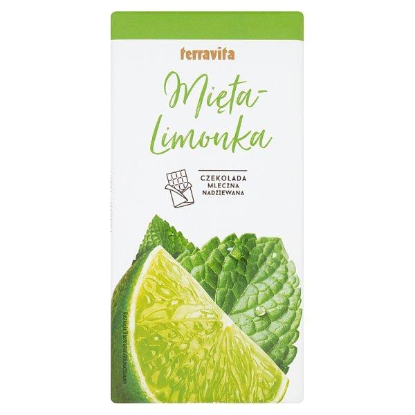 Czekolada classic mleczna 30% nadziewana mieta&limonka