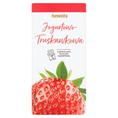 Terravita Czekolada mleczna nadziewana jogurtowo-truskawkowa 100 g