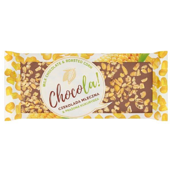 """Czekolada """" Chacola ! """" mleczna z kukurydzą"""