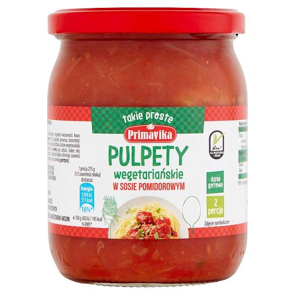 Primavika Pulpety wegetariańskie w sosie pomidorowym 430 g