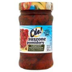 Suszone pomidory z pieprzem marynowanym w oleju z ziołami