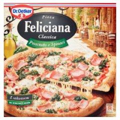 Pizza felicia prosiutto e spinaci.