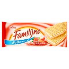 Wafle Familijne truskawkowo - śmietankowe