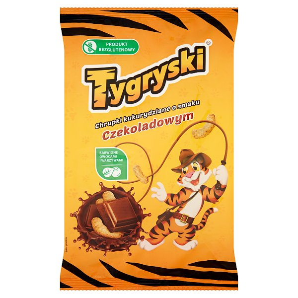 Tygryski Chrupki kukurydziane o smaku czekoladowym 70 g