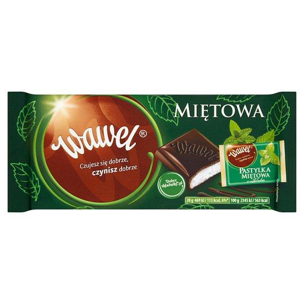 Wawel Miętowa Czekolada nadziewana 100 g