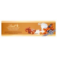 Lindt Szwajcarska czekolada mleczna z rodzynkami całymi orzechami laskowymi i migdałami 300 g