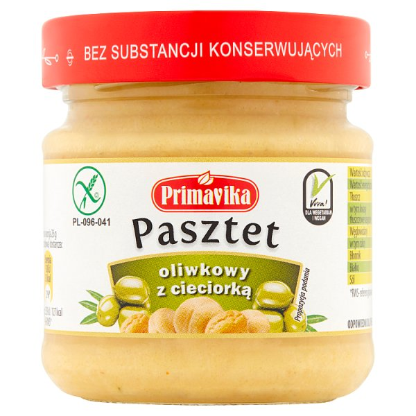 Primavika Pasztet oliwkowy z cieciorką 160 g