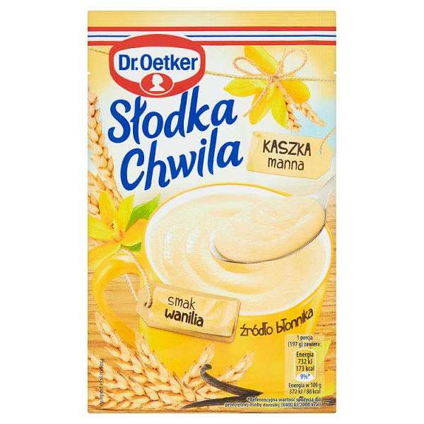Dr. Oetker Słodka Chwila Kaszka manna smak wanilia 47,5 g