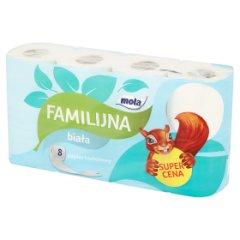 Papier toaletowy Mola familijna  biały /8rolek