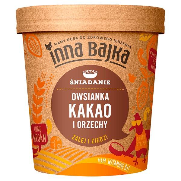 Owsianka kakao i orzechy