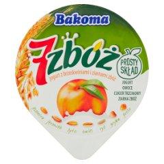 Bakoma 7 zbóż Jogurt z brzoskwiniami i ziarnami zbóż 140 g