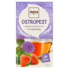 Herbata ostropest z truskawką astra 20 torebek