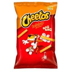 Chrupki Cheetos ketchup