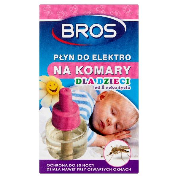 Bros Płyn do elektro na komary dla dzieci od 1 roku życia 40 ml