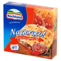 Hochland Na gorąco! Plastry sera z salami i chili 144 g