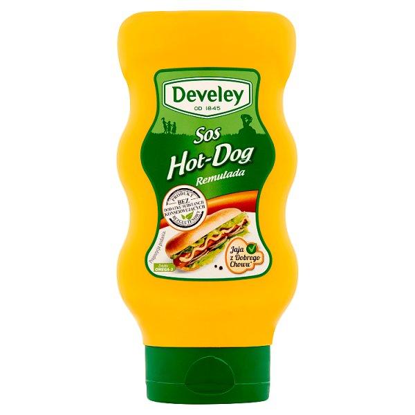 Sos hot dog develey.
