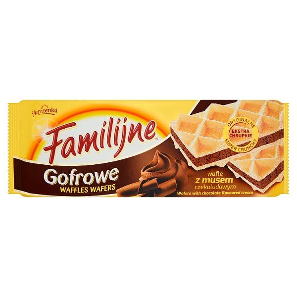 Familijne Gofrowe wafle z musem czekoladowym 130 g