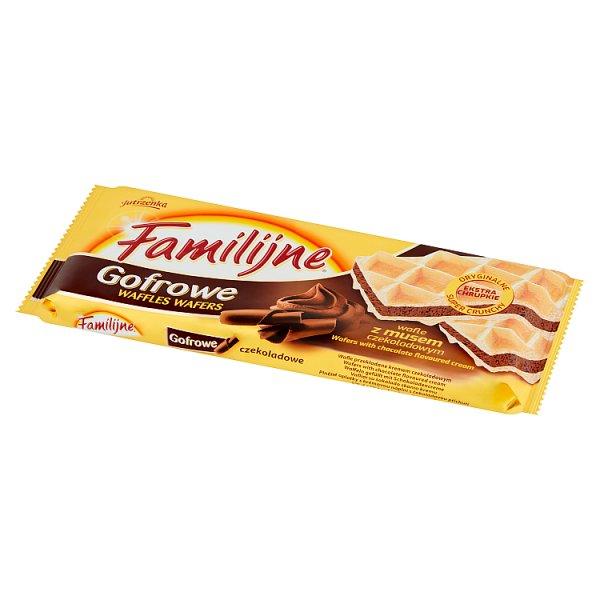 Wafle familijne gofrowe z czekoladą