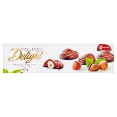 Carletti Delight Orzech laskowy w czekoladzie deserowej i mlecznej z pastą orzechową 62 g