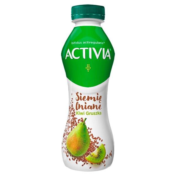 Danone Activia Jogurt siemię lniane gruszka kiwi 280 g