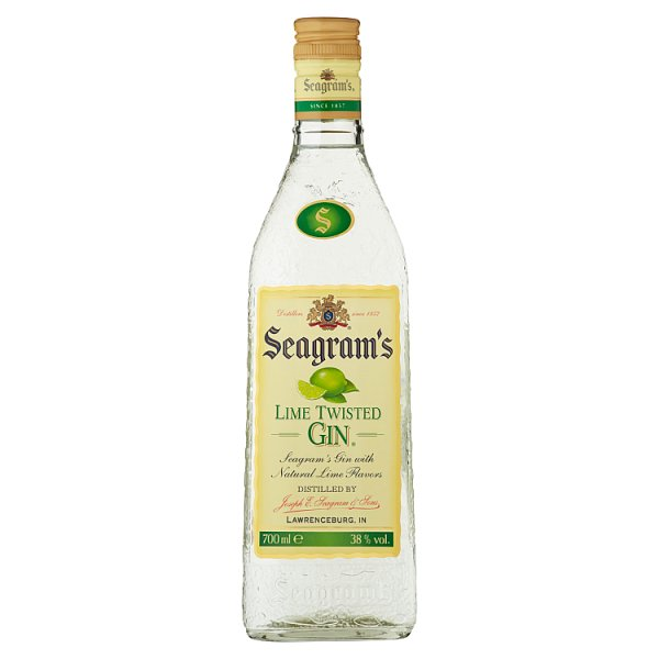 Gin Seagrams lime