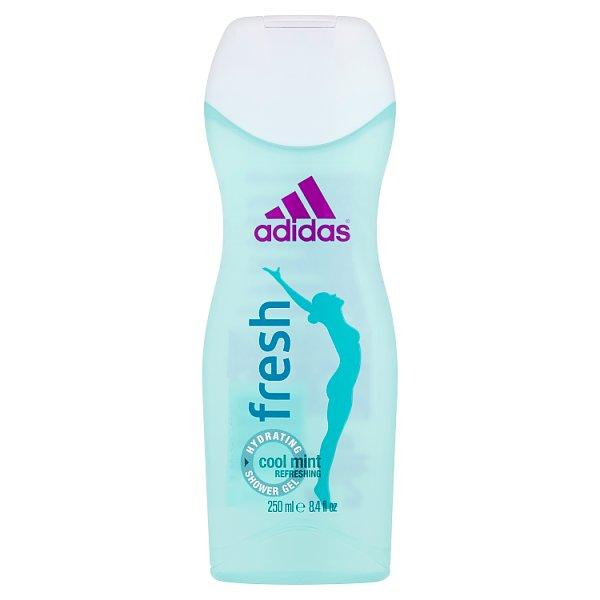 Adidas Fresh Nawilżający żel pod prysznic dla kobiet 250 ml