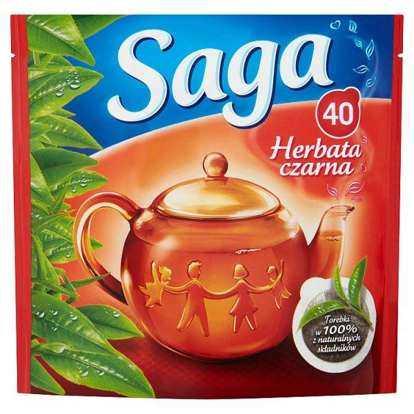 Saga Herbata czarna 56 g (40 torebek)