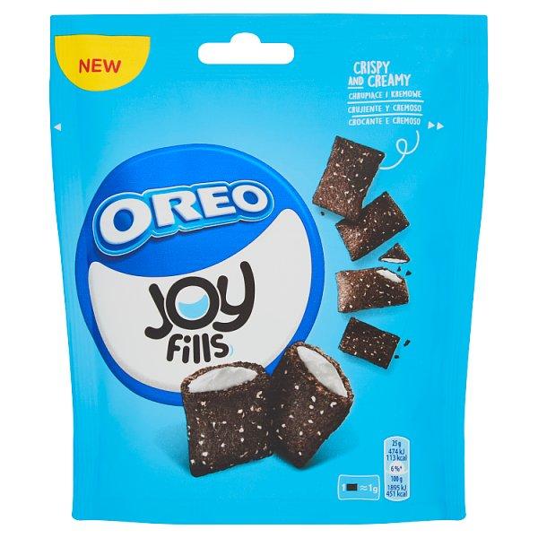 Oreo Joy Fills Poduszeczki pszenne z kakao i kremowym nadzieniem o smaku waniliowym 75 g