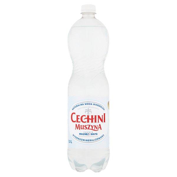 Muszyna Cechini Naturalna woda mineralna wysokozmineralizowana niskonasycona 1,5 l