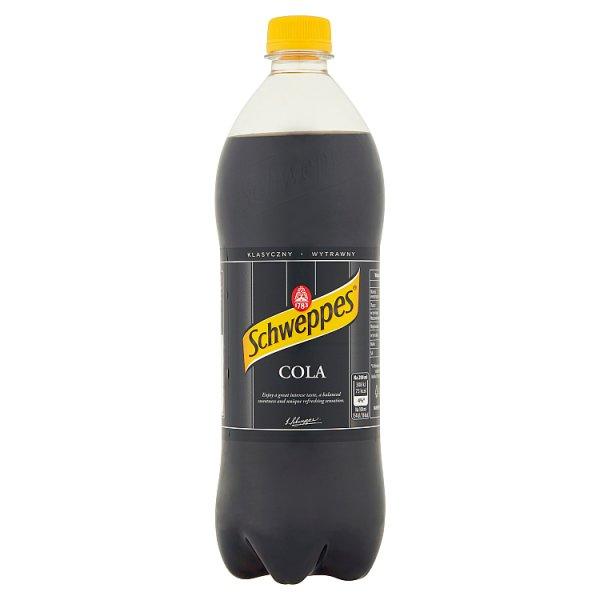 Schweppes Cola Napój gazowany o smaku coli 0,9 l