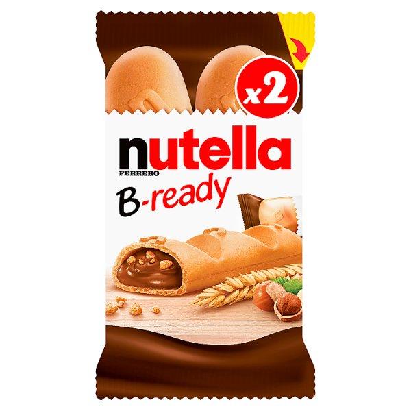 Nutella B-ready Wafelek z orzechami laskowymi i kakao oraz chrupkami 2 x 22 g