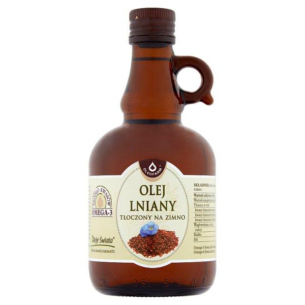 Oleofarm Olej lniany tłoczony na zimno 0,5 l
